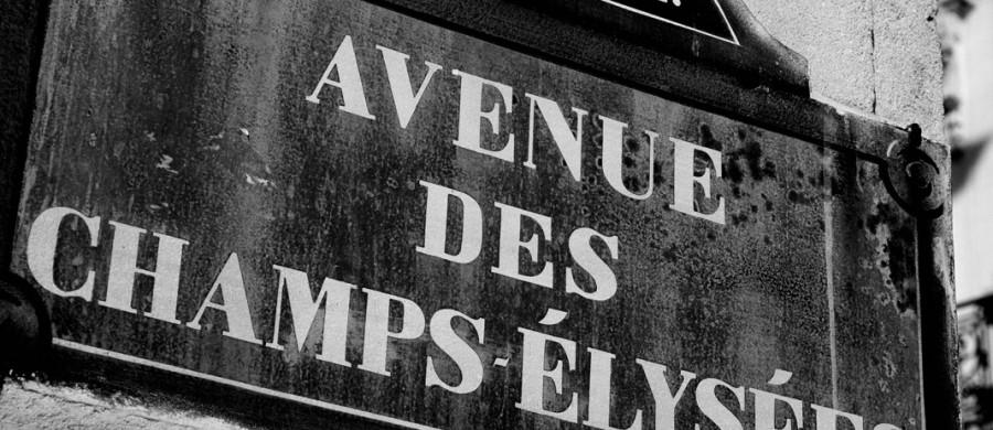 Parijs Champs Elysees Zwart Wit