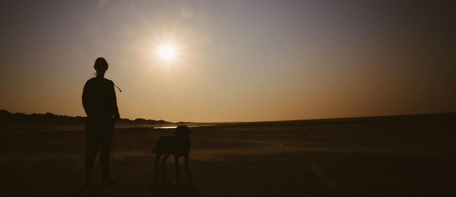 Zonsondergang met tegenlicht