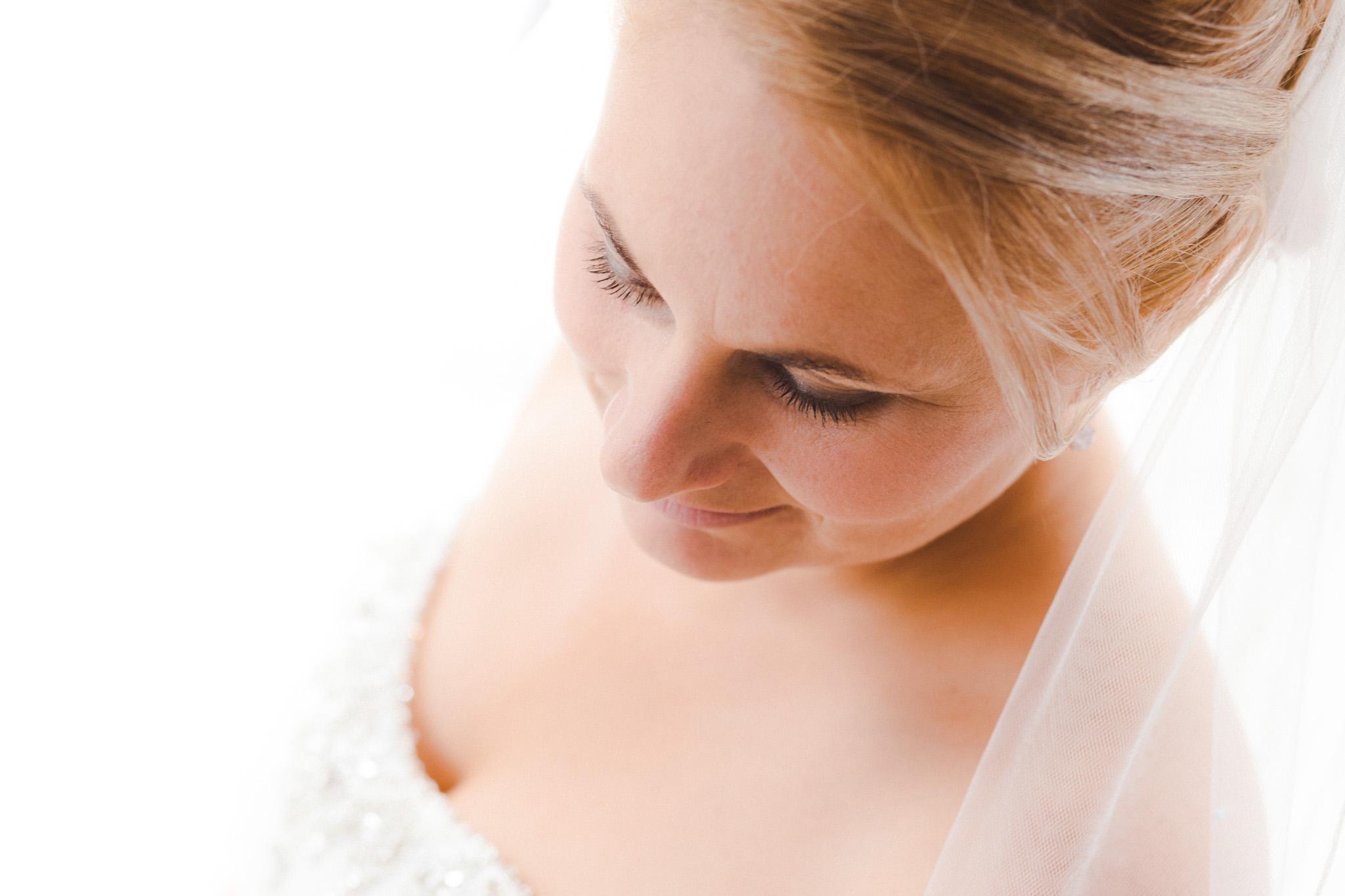 Trouwfotografie portretfoto van een bruid
