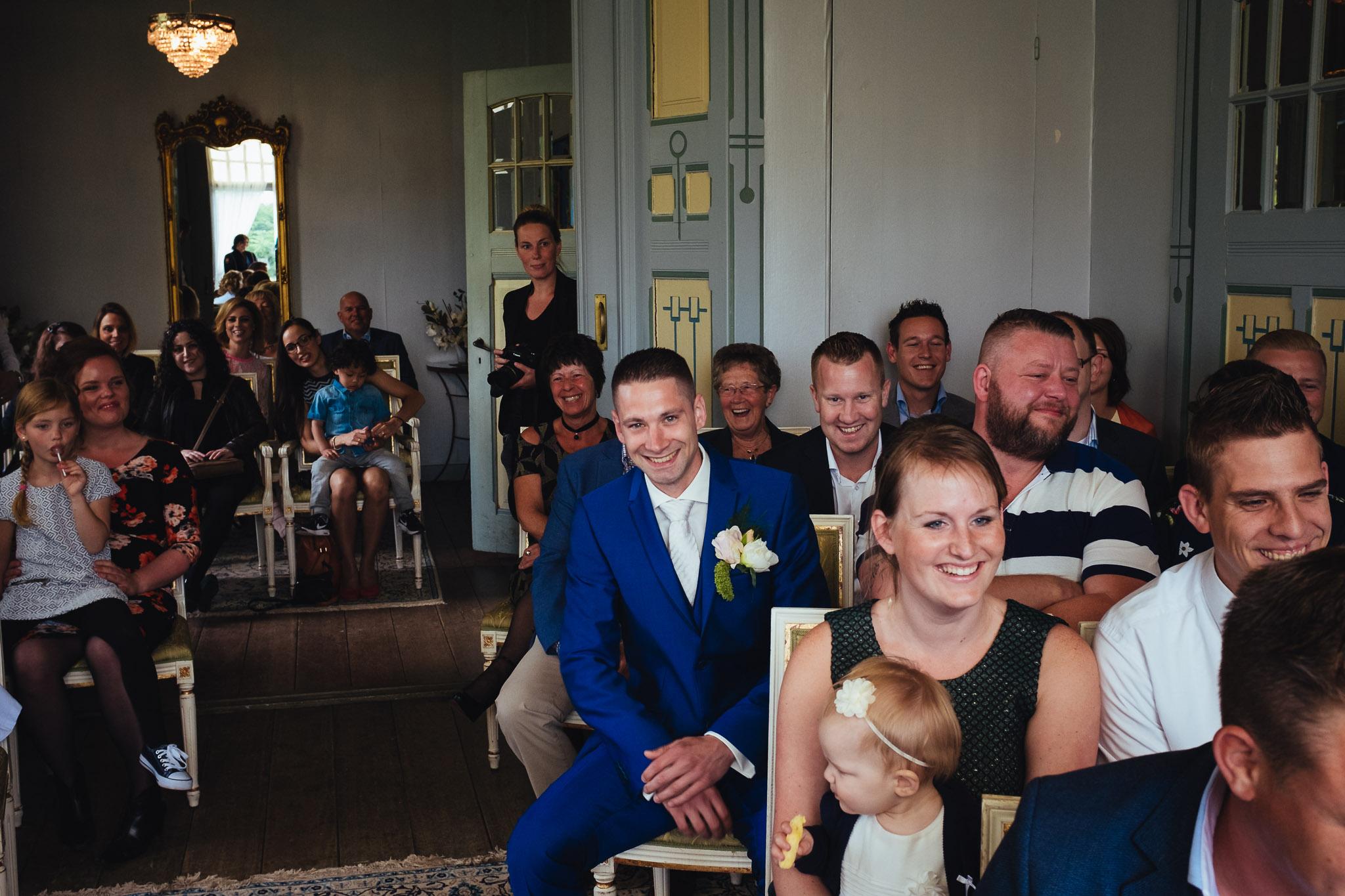 bruiloft op landgoed westerlee in groningen met dilek en tim trouwceremonie